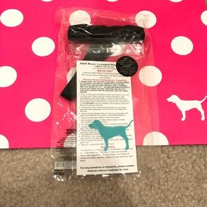 NWT Pink water resistant plastic pouch & lanyard